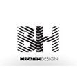 bh b h lines letter design with creative elegant vector image vector image