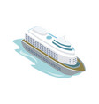 big cruise ship isometric 3d element vector image