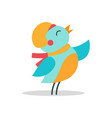 bird with hat and scarf icon vector image
