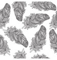birds feather ornamental seamless pattern vector image vector image