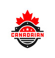 canada shield logo vector image