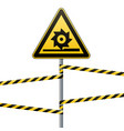 carefully cutting shafts safety sign the vector image vector image