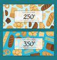 cartoon bakery elements discount or gift vector image vector image