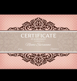 Certificate of achievement vector image