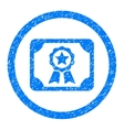 Certificate Rounded Icon Rubber Stamp vector image