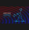 cheerleader dances with pom poms sport vector image vector image