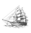 Columbus ship 03 vector image