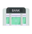 concept art of the facade of the bank building vector image