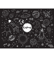 Cosmic objects set Hand drawn doodles vector image vector image