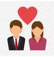 couple love design vector image vector image