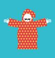death in pajamas grim reaper in color hood cloak vector image vector image