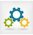 Development gears symbol vector image vector image