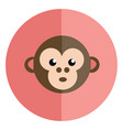 face a surprised monkey in a pink background vector image