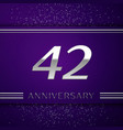 forty two years anniversary celebration design vector image vector image