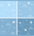 four with flight planes vector image