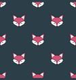 fox cartoon cute animal seamless pattern vector image vector image