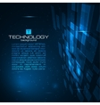 Futuristic digital background vector image vector image