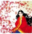 girl in a kimono vector image