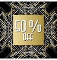 Golden silver sale banner template in art deco vector image vector image