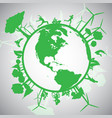 green eco world vector image vector image