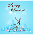 Greeting card with deer and Christmas gifts vector image vector image