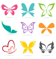 group of butterflies vector image vector image