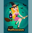 halloween greeting card or invitation beautiful vector image vector image