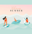 hand drawn abstract exotic summer time vector image vector image