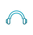 headphones sound music communications gradient vector image