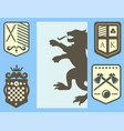 heraldic lion royal crest medieval knight vector image vector image