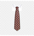 hipster tie icon realistic style vector image
