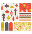 Holiday seamless patterns gift tags and designs