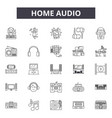 home audio line icons signs set outline vector image vector image