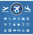 icons and pointers for navigation in airport vector image vector image
