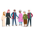 international happy old people elderly vector image vector image