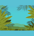 open jungle vector image