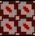 ornamental black red white greek seamless vector image vector image