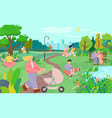 people in city park active lifestyle outdoor vector image