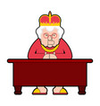 queen for workplace desktop boss old lady in vector image vector image