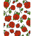 rain of red roses sketch engraving style vector image
