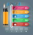realistic lighter - business infographic and vector image vector image