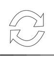 refresh icon design vector image vector image