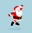 Santa Claus dancing and jumping vector image vector image