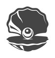sea pearl icon flat shellfish vector image