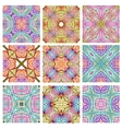 Set of retro seamless patterns of geometric shapes vector image