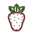 silhouette delicious strawberry fruit to healthy vector image vector image