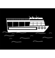 Silhouette walking tour boats vector image vector image