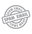 spam email rubber stamp vector image vector image