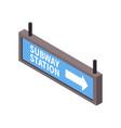 subway sign icon vector image vector image