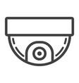 surveillance camera line icon cctv and security vector image vector image
